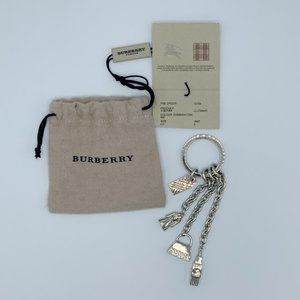 Burberry Silver Multi Charm Key Chain